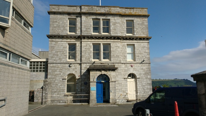 The MBA Citadel Lab, located off the Plymouth Hoe.